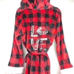 Em & Alfie | Black Red Checkered Soft Warm Robe